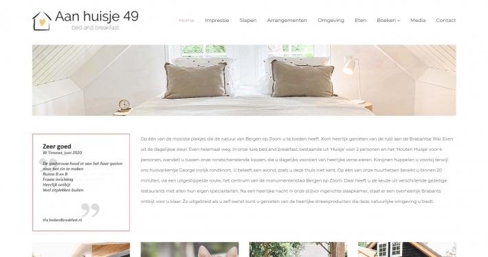 Website aanhuisje49.nl
