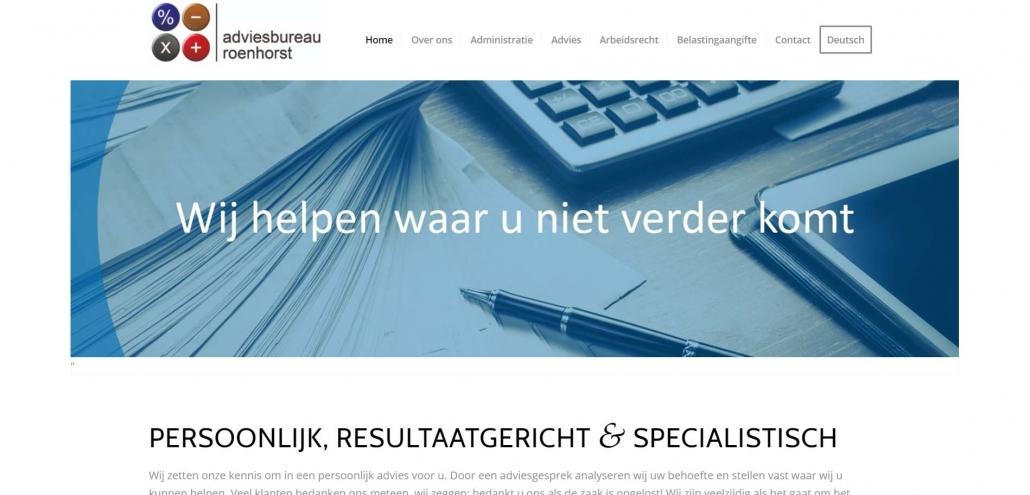 Website adviesbureauroenhorst.nl