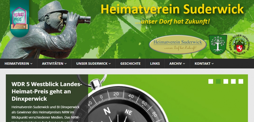 Website heimatvereinsuderwick.de