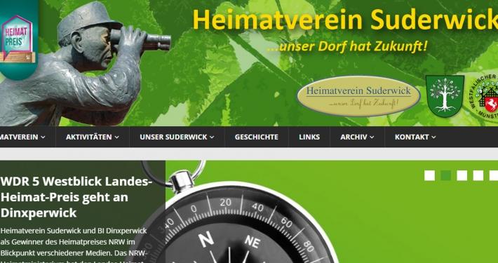 Website heimatvereinsuderwick.de