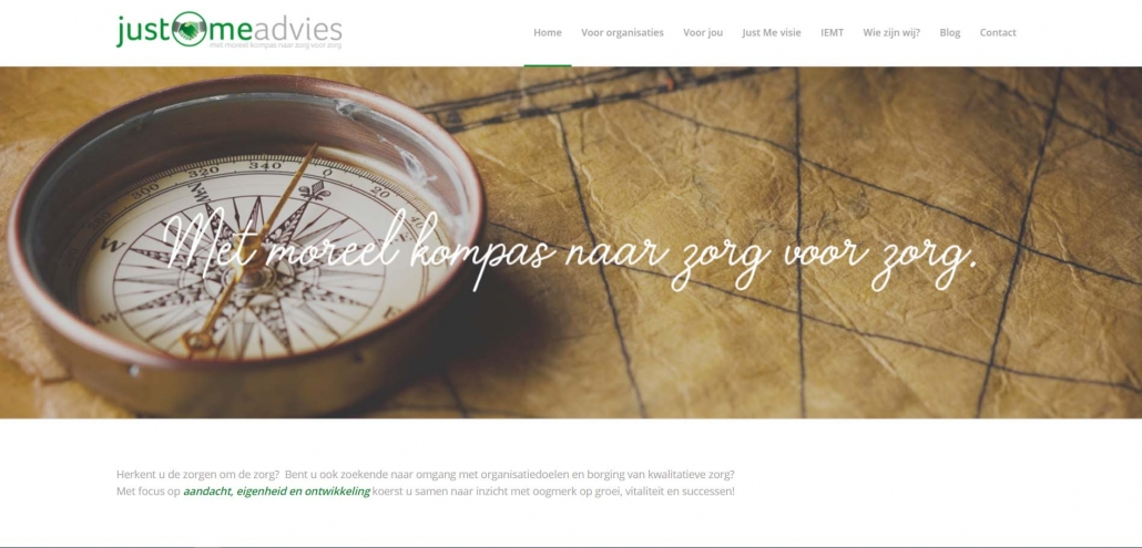 Website justmeadvies.nl