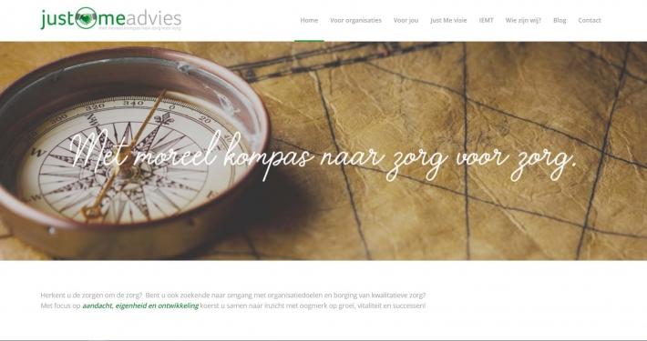 Website justmeadvies.nl
