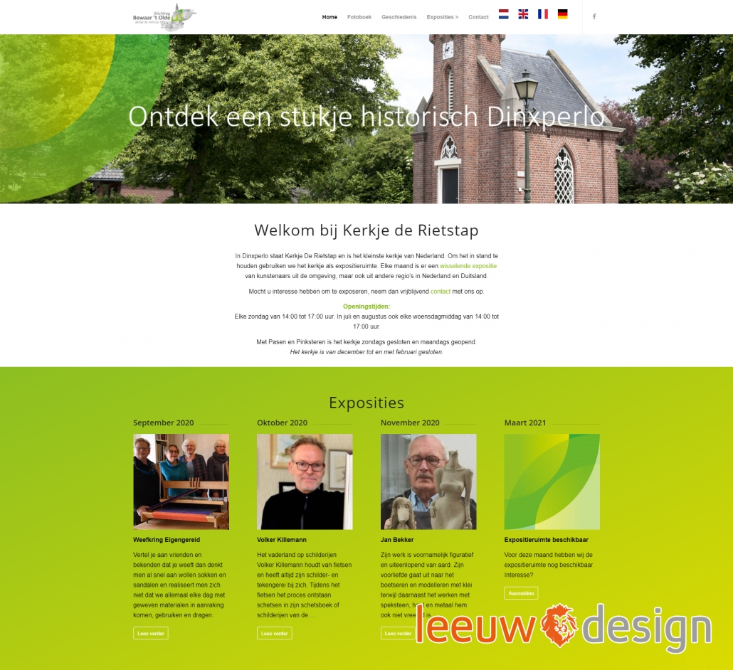 Website kerkjederietstap.nl