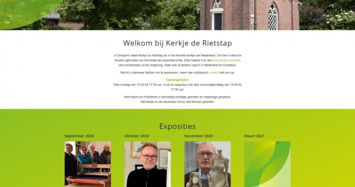 Website kerkjederietstap.nl