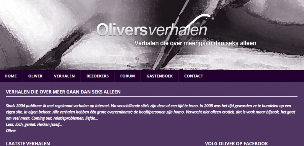 Website oliversverhalen.nl