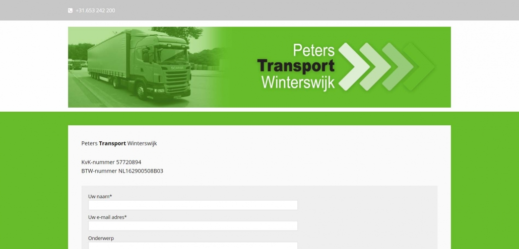Website peterstransportwinterswijk.nl