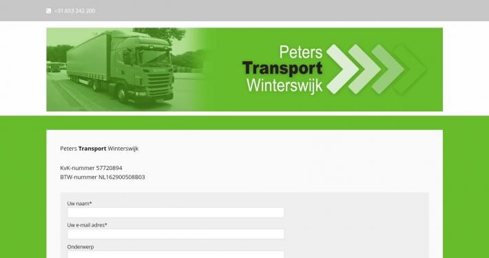 Website peterstransportwinterswijk.nl