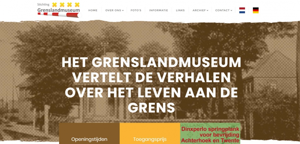 Website grenslandmuseum.nl