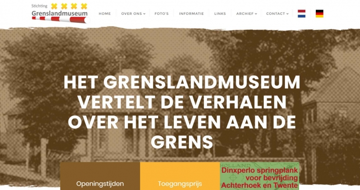 Website grenslandmuseum.nl