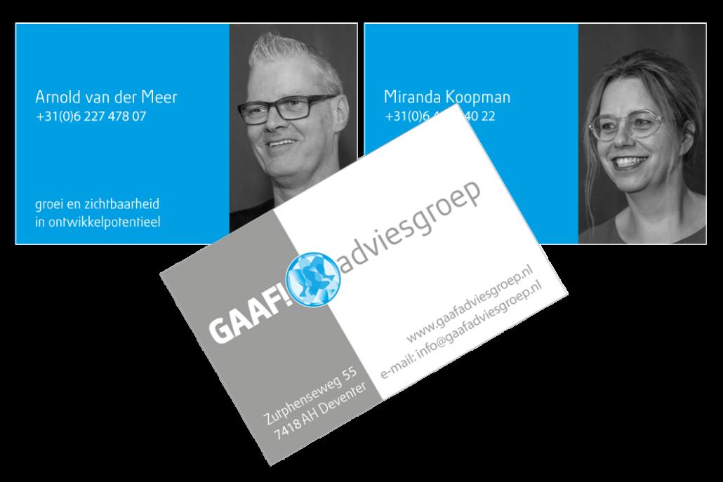 Visitekaartjes GAAF! adviesgroep