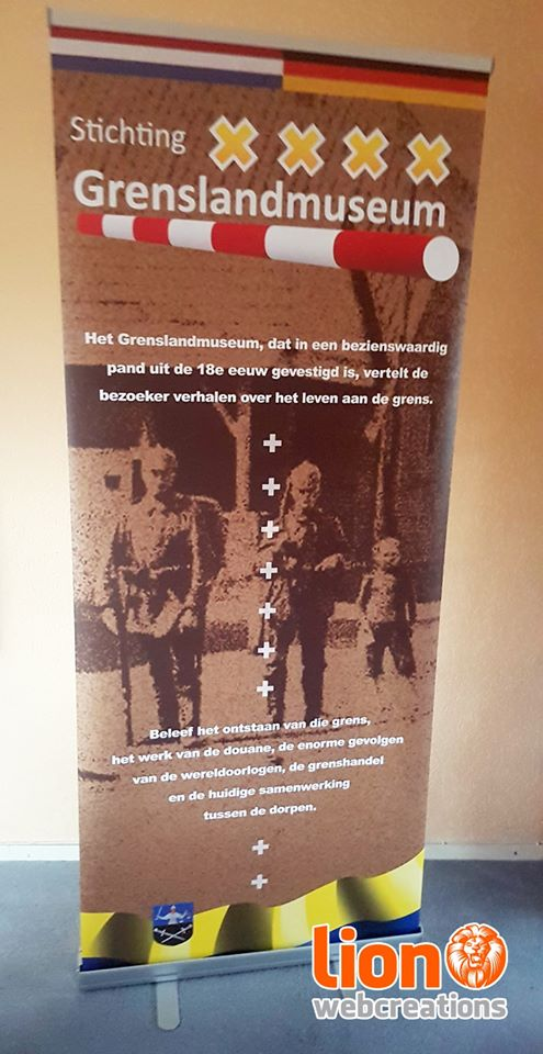 Roll-up banner Grenslandmuseum